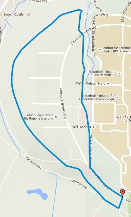 campusRUN Strecke